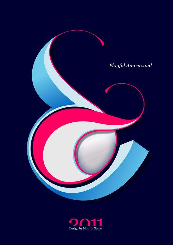 Playful Ampersand by Moshik Nadav
