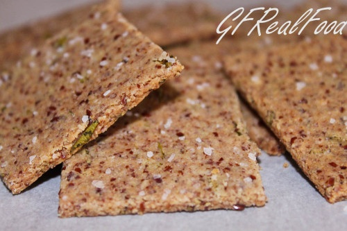 almond meal/flax seed crackers