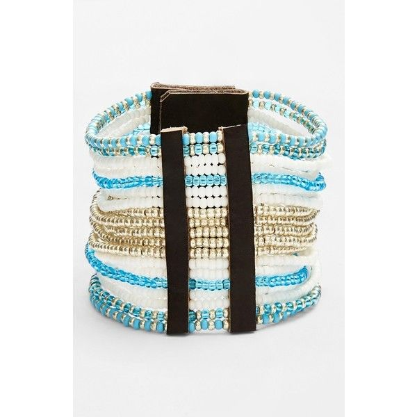 Junior Women's Me to We Artisans Luxe Pajoma Unity Bracelet ($58) ❤ liked on Polyvore featuring jewelry, bracelets, blue jewelry, sparkle jewelry and blue bangles