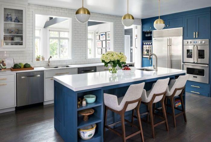 1001 Moderne Und Stilvolle Kuchen Ideen In Blau In 2020 Stilvolle Kuche Kuche Farbideen Kuche Einrichten