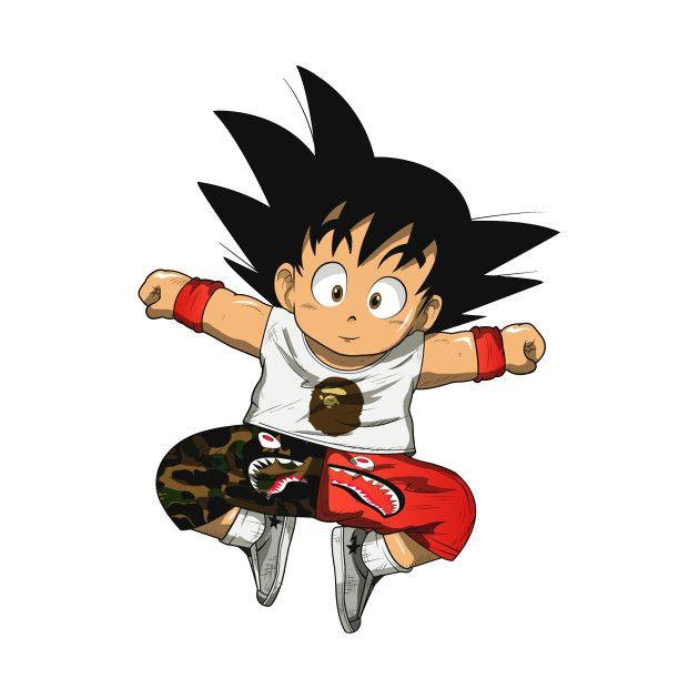 Check Out This Awesome Kid Goku Hypebeast Design On Teepublic Kid Goku Anime Dragon Ball Super Anime Inspired
