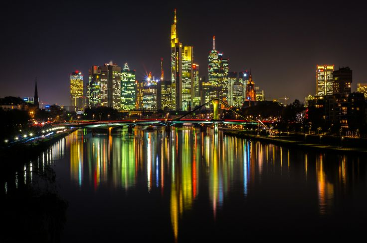 Skyline of Frankfurt am Main in Germany