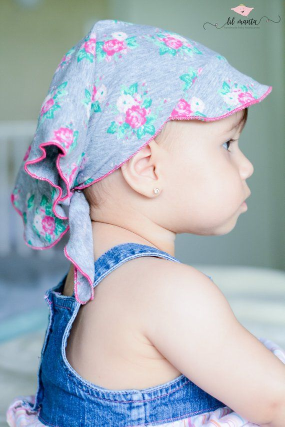 25771c4caa090d toddler/baby girl summer hat in grey with roses, baby headscarf, baby  bandana, baby head wrap, baby in 2019 | Products | Baby sun hat, Baby  headbands, ...