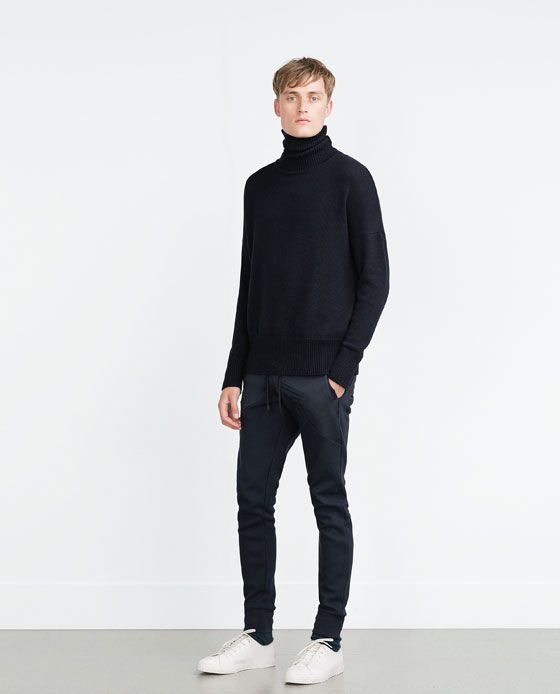 ZARA - MAN - JOGGING TROUSERS WITH CONTRAST DETAIL