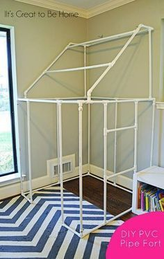 42 Amazing PVC DIY Ideas And Projects For Your Home and Garden --> DIY PVC Pipe Fort