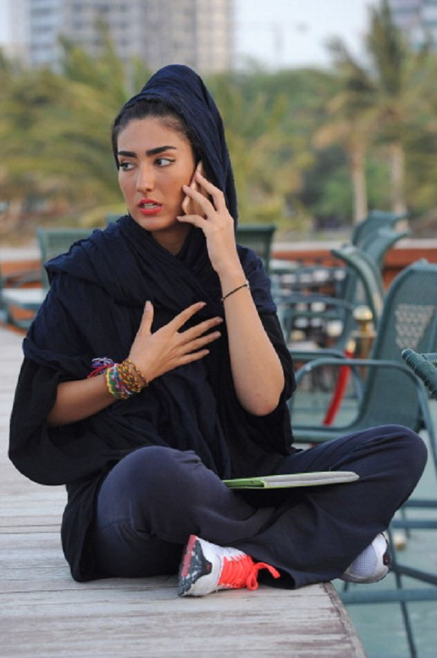 A fashionable young woman in Kish Island,Iran