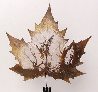 Creative art works made with leaves | D'tattoo of you