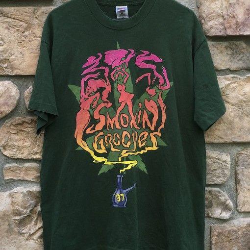 8728012dfcfc 1997 Smokin Grooves Concert rap tee shirt size XL Erykah Badu The Roots  Outkast Cypress Hill