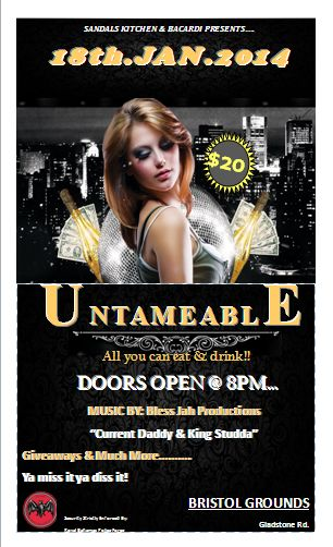 Get Untameable on Saturday January 18th at the Bristol Grounds.