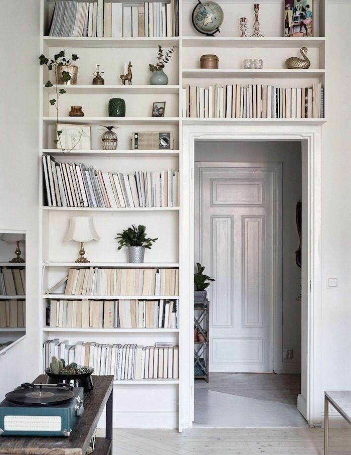 Gorgeous way to store a growing record and book collection