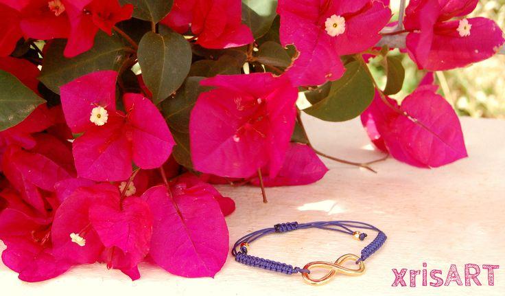 Handmade macrame bracelet with infinity by xrisart