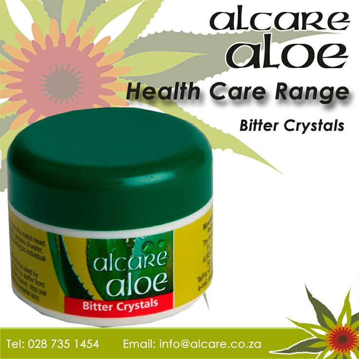 Bitter Crystals. Made from the natural bitter Aloe ferox sap, which is heated until it crystallizes. Aloin, the main ingredient, is a strong laxative that has purifying properties, making it an excellent aid in detoxifying the body. Order online: http://on.fb.me/1fJVdeb #health #aloe #bittercrystals
