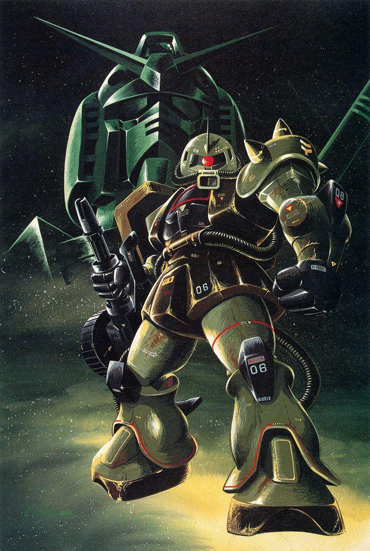 Zaku, ガンダム緑 - 大河原邦男ザク緑 | Gundam *