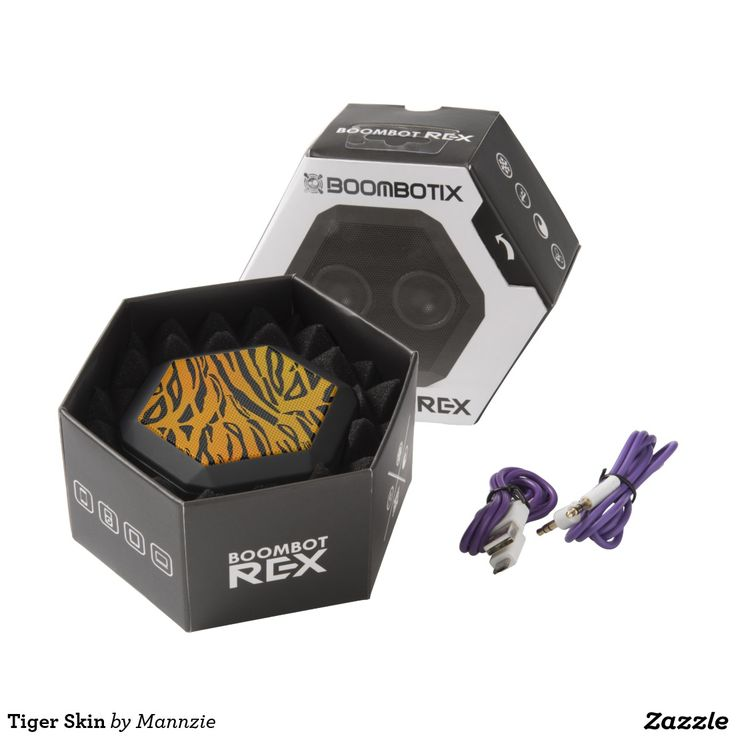 Tiger Skin Black Bluetooth Speaker