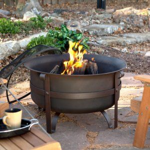 Red Ember Brockton Steel Cauldron Fire Pit with FREE Cover - Keep toil and trouble out of your backyard bonfire by keeping it in one of our Red Ember Brockton Steel Cauldrons. These hefty steel firebowls are sup...