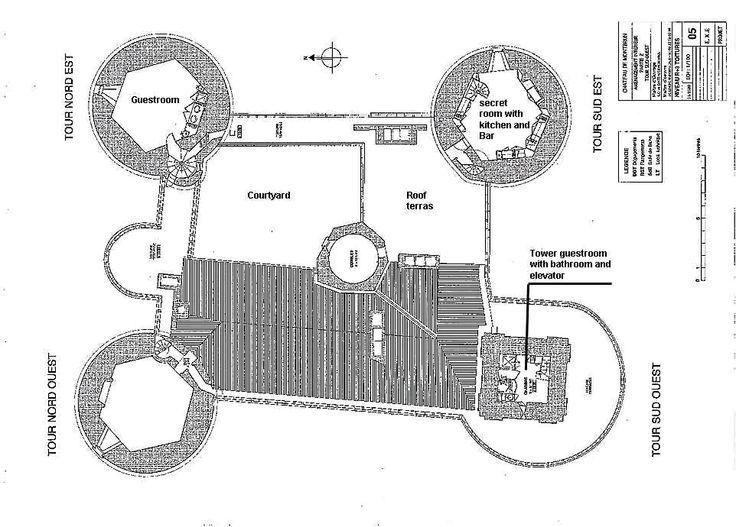 Floor Plan Of Fourth Level Medieval Castle De Montbrun