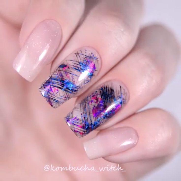 SCHÖNE FOLIEN-NAGEL-KUNST #foil #nailart #nails – meine