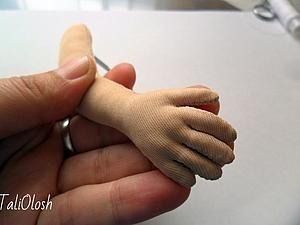 Создание армированной ручки для куклы. Часть 4   Ярмарка Мастеров - ручная работа, handmade