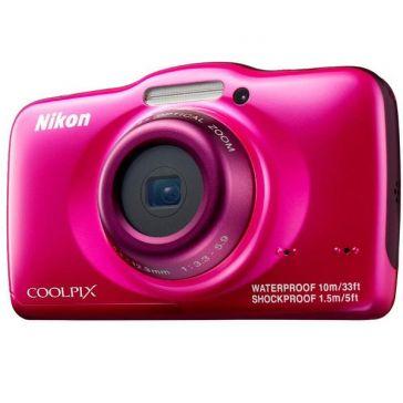 NIKON S32 - rose - Appareil photo numérique + Carte mémoire SDHC - 8 Go Classe 10 (LSD8GBBBEU200C10) + Batterie lithium ENEL1… - La E-Boutique pageslowcost.com - 125,44€
