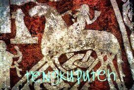 Seni gambar Nazi (Jerman) meniru simbol folklor bercirikan orang-orang tegap dan pirang, khas zaman kuno.