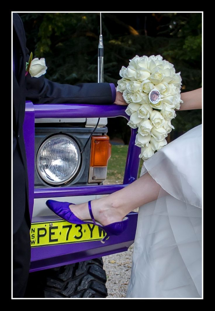 Wedding Photographer - Candid Photos of a Lifetime  4x4, purple bullbar to match the brides purple shoes