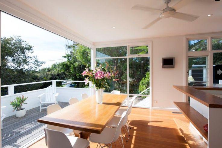 50s beach reno- dining/deck area