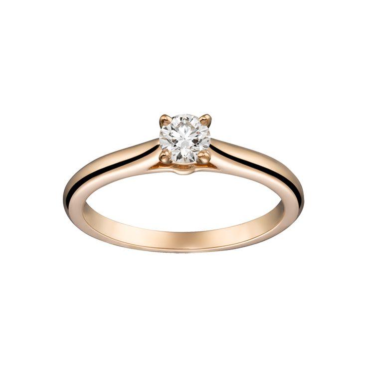 Solitário diamante Cartier