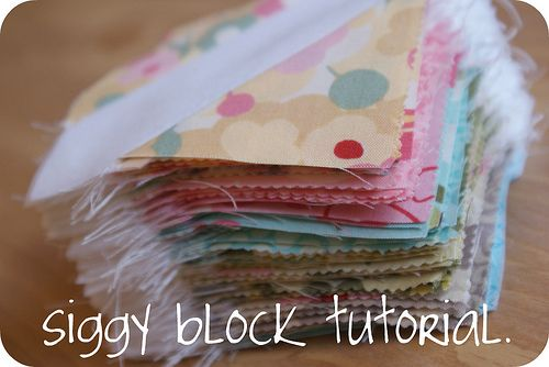siggy block tutorial. by rachelgriffith, via Flickr