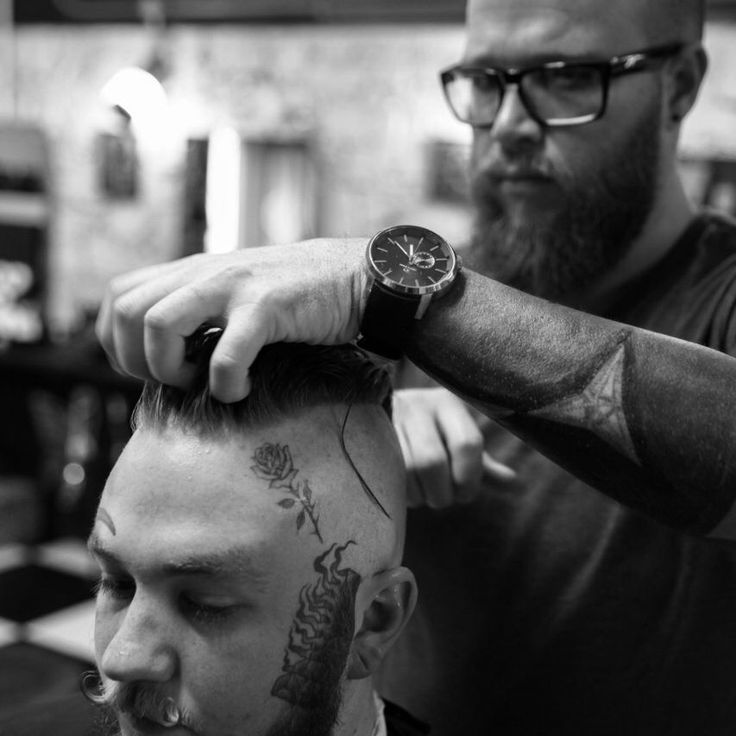 The shaving of George Lynx.  Barber: @barberbiddle Photography by @peter_bruyns Model @tylergvs   Can be found on Instagram.