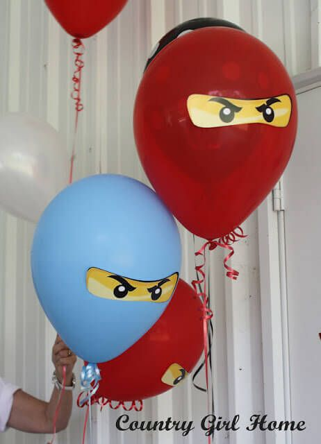 These Lego Ninjago balloons are simple but effective party decorations.