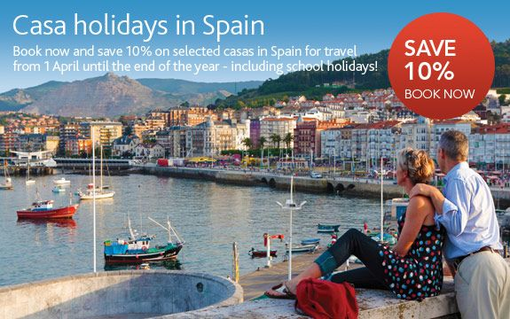 10% Off Casa Holidays In Spain - Brittany Ferries Offer