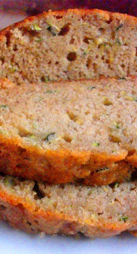 Moist Zucchini Bread - I added 1/2 tsp nutmeg and 1/4 tsp cloves, and used 3 cups zucchini.
