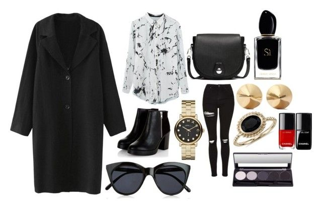"""Без названия #8"" by dobrayaprosto ❤ liked on Polyvore featuring Marc by Marc Jacobs, Giorgio Armani, rag & bone, Le Specs, Topshop, Blue Nile and Eddie Borgo"