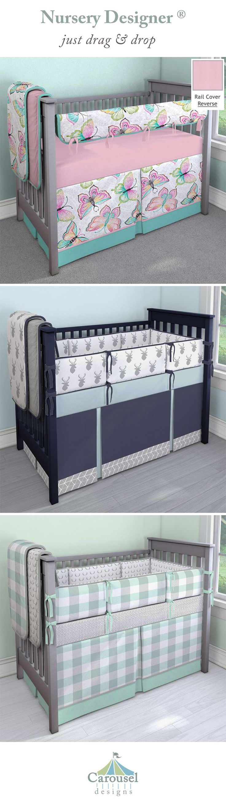 Special enclosed crib for premature babies - Carousel Designs Designs Can Help Make Your Nursery Unique And Extra Special With Custom Crib Bedding