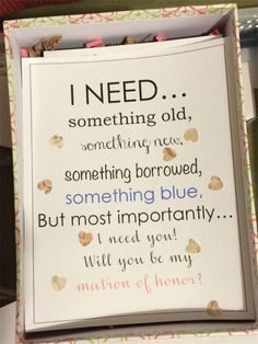 Home » Wedding » Latest 15 Will You be my Bridesmaid ideas! » Most importantly i Need you be my maid of honor?