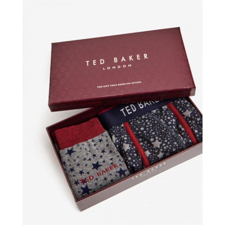 Ted Baker STARPAK Star sock and boxer shorts set | John-Andy.com