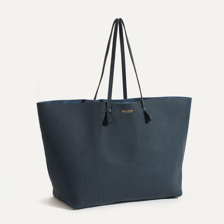 Sac Cabas cuir souple Joy - Made in France | Bleu de chauffe