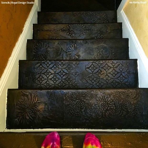 21 Attractive Painted Stairs Ideas Pictures: Best 25+ Stenciled Stairs Ideas On Pinterest