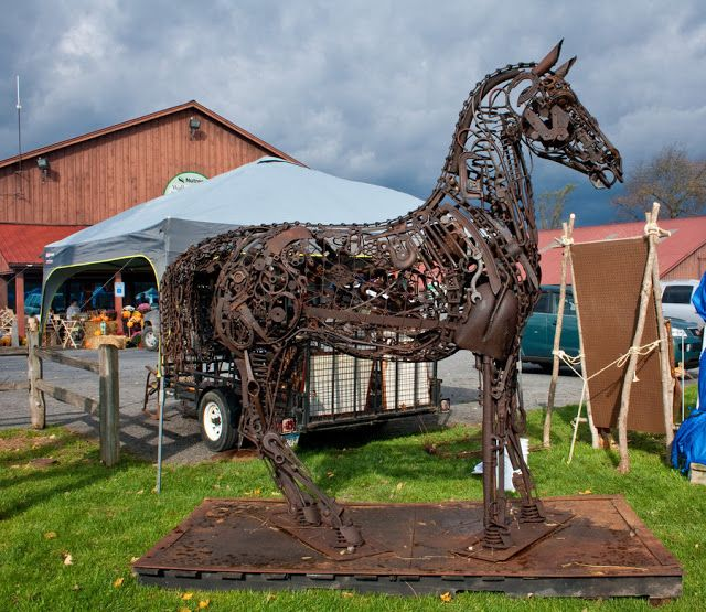 Best Horse Art Images On Pinterest Horse Art Horse Sculpture - Salvaged scrap metal transformed to create graceful kinetic steampunk sculptures