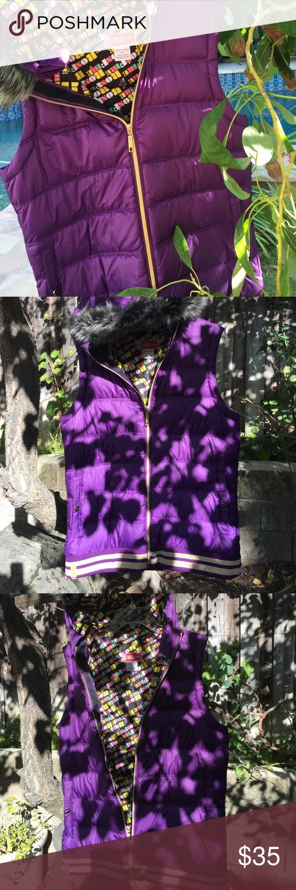 Purple snowboarding best with hood Almost new worn once bonfire snowboarding company down vest bonfire snowboarding Other
