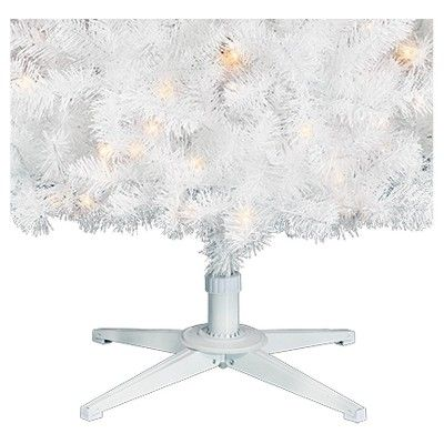 7ft Prelit Artificial Christmas Tree White Alberta Spruce Clear Lights - Wondershop