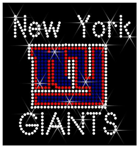 Rhinestone Transfer New York Giants Logo Hotfix by BevelliDesigns