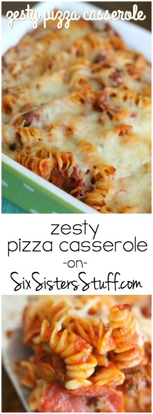 Delicious, Zesty Pizza Casserole on SixSistersStuff.com!