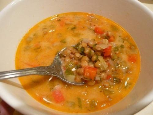 Montignac lentils and celery soup