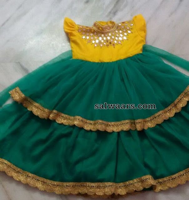 Green and Yellow Frock