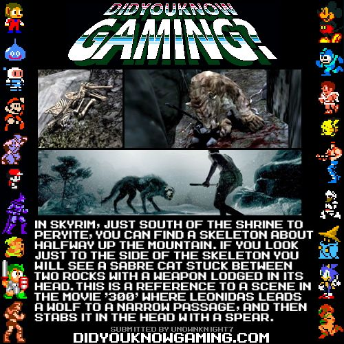 The Elder Scrolls V: Skyrim via didyouknowgaming.  http://www.youtube.com/watch?v=JU_5JoslSqE