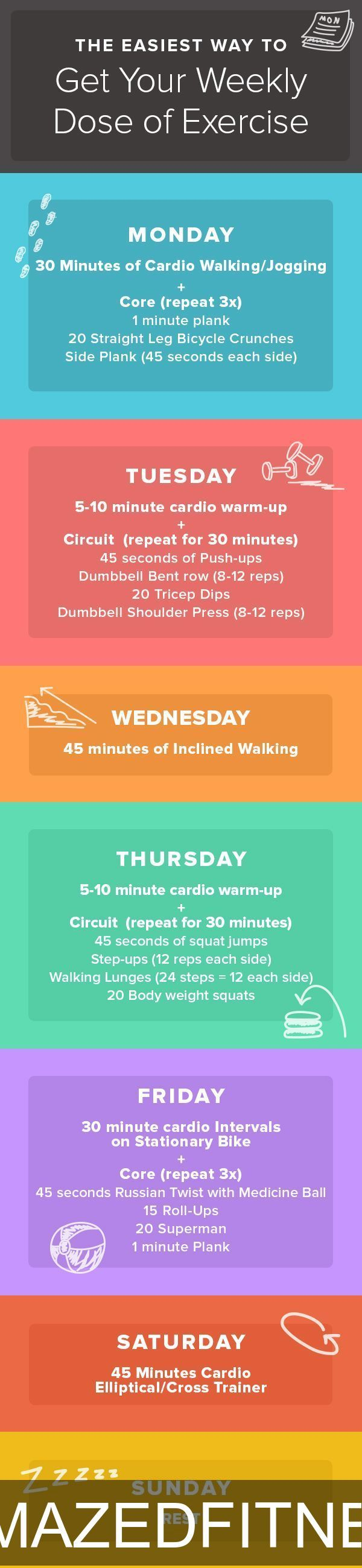 Follow this guide for getting in the recommended 2.5 hours exercises to maintain…
