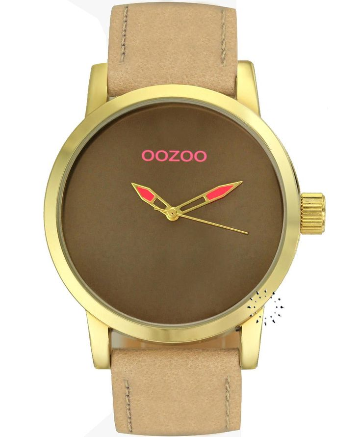 OOZOO Small Τimepieces Gold Beige Leather Strap Η τιμή μας: 69€ http://www.oroloi.gr/product_info.php?products_id=34624