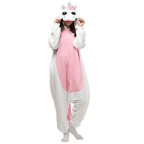 VU ROUL Unisex Adults Costumes Kigurumi Onesie Pink Unicorn Size UK M ** Visit the image link more details.