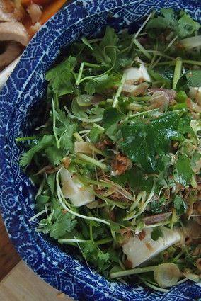 じゃこ醤と香味野菜の豆腐サラダ。|レシピブログ